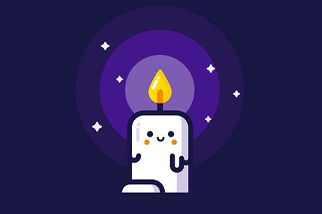 candle graphic