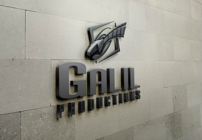 Galil Productions Logo in a wall sign