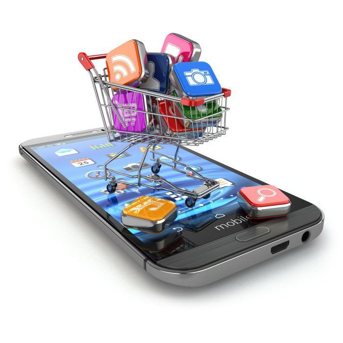 Mobile apps over a cell phone